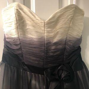 Betsey Johnson black/white/gray ombré dress